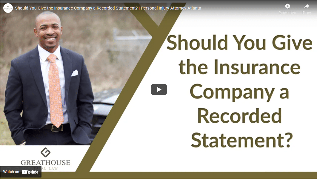 should you give the insurance company a recorded statement