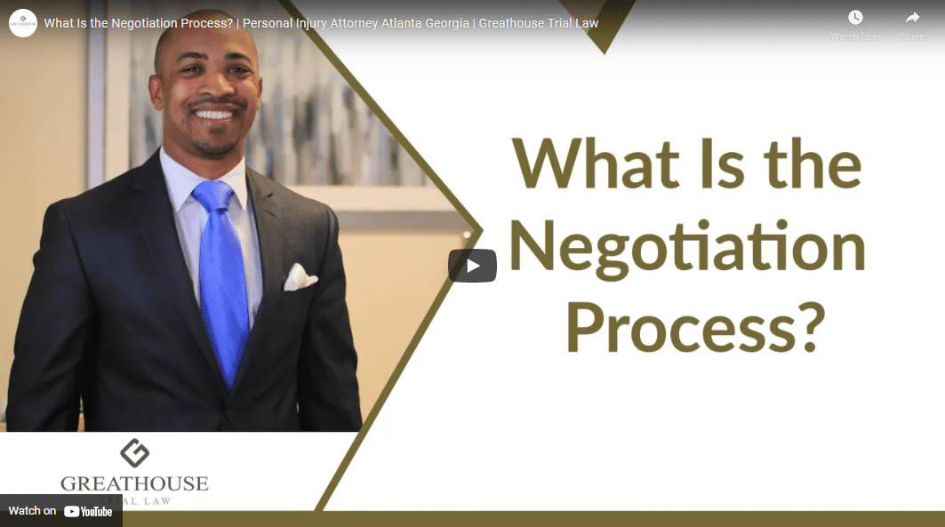 what is the negotiation process personal injury attorney at